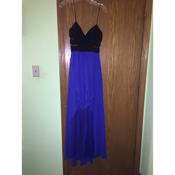 Hailey Logan Dresses Black And Royal Blue High Low Dress Poshmark